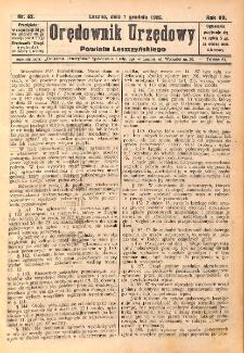Orędownik Urzędowy Powiatu Leszczyńskiego 1926.12.01 R.7 Nr 62