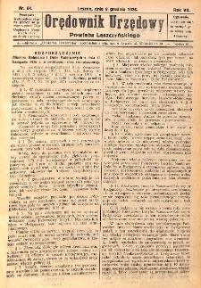 Orędownik Urzędowy Powiatu Leszczyńskiego 1926.12.09 R.7 Nr 64