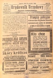 Orędownik Urzędowy Powiatu Leszczyńskiego 1926.12.31 R.7 Nr 70