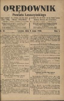 Orędownik Powiatu Leszczyńskiego 1920.05.08 R.1 Nr 32