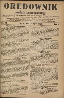 Orędownik Powiatu Leszczyńskiego 1920.07.15 R.1 Nr 52